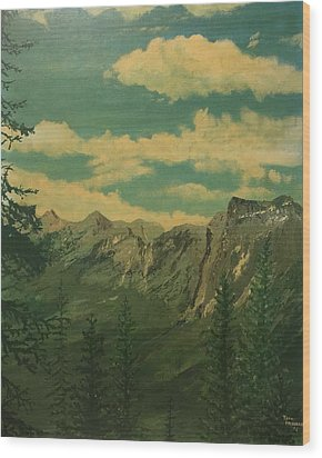 Banff Wood Print by Terry Frederick