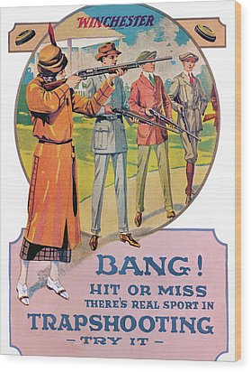 Bang Wood Print by Unknown