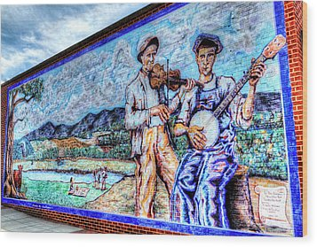 Banjo Mural Wood Print