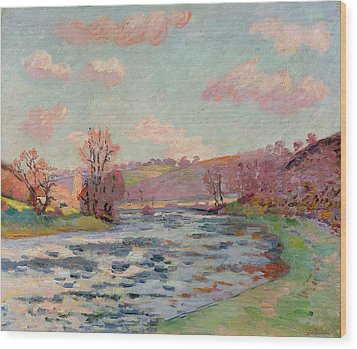 Banks Of The Creuse Wood Print by Jean Baptiste Armand Guillaumin