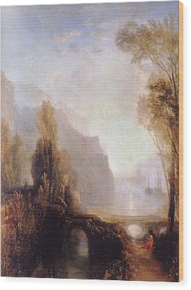 Banks Of The Loire Wood Print