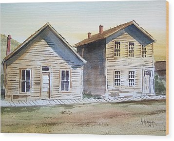 Bannack Ghost Town Montana Wood Print by Kevin Heaney