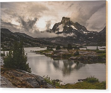 Banner Peak In A Clearing Storm Wood Print