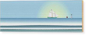 Banner Wood Print by Steve Smyth