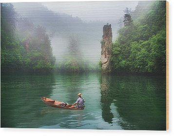 Wood Print featuring the photograph Baofeng by Wade Aiken