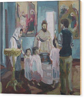 Baptism Wood Print by Laura Wilson