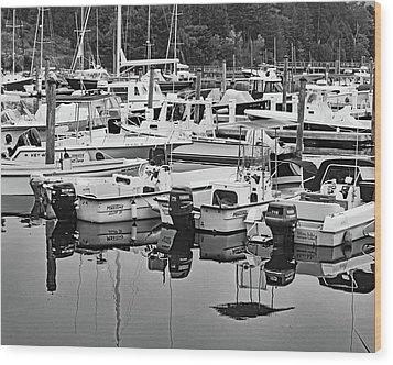 Bar Harbor, Maine No. 3-1 Wood Print