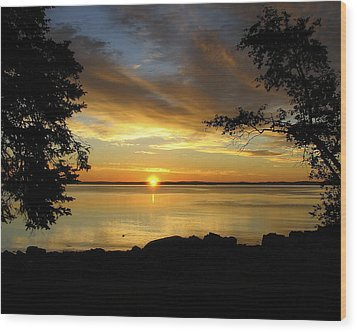Bar Harbor Sunrise 1 Wood Print