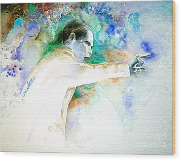Barack Obama Pointing At You Wood Print by Miki De Goodaboom