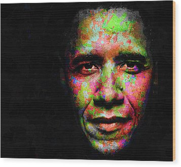 Barack Obama Wood Print by Svelby Art