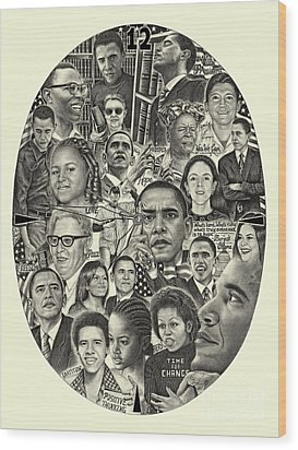 Barack Obama- Time For Change Wood Print