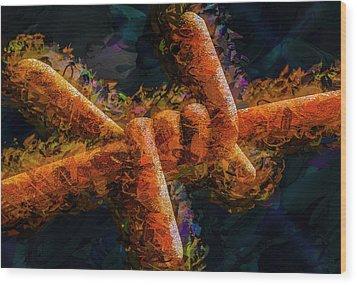 Barbed Wood Print by Paul Wear
