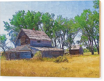 Wood Print featuring the photograph Barber Homestead by Susan Kinney