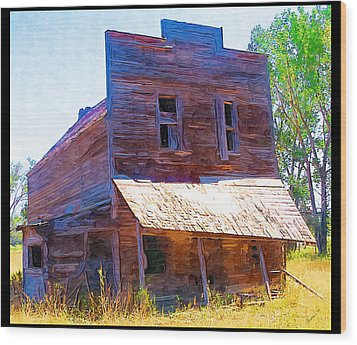 Wood Print featuring the photograph Barber Store by Susan Kinney