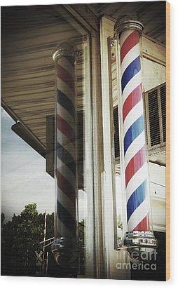 Barbershop Pole Wood Print