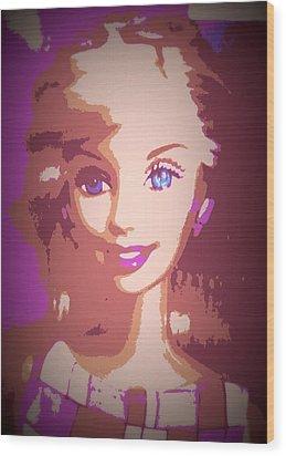 Barbie Hip To Be Square Wood Print by Karen J Shine