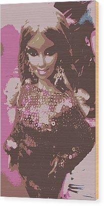 Barbie Sparkle Wood Print by Karen J Shine