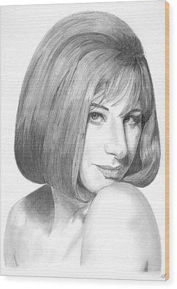 Barbra Streisand Wood Print by Rob De Vries