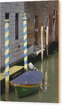 Barca Blue Wood Print