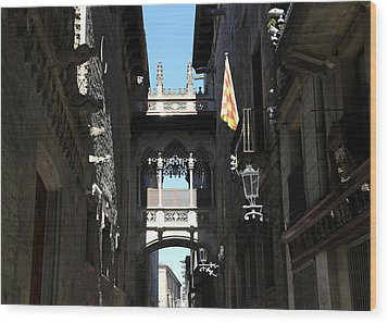 Wood Print featuring the photograph Barcelona 1 by Andrew Fare