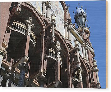 Wood Print featuring the photograph Barcelona 4 by Andrew Fare