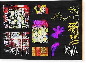 Barcelona Graffiti  Wood Print by Funkpix Photo Hunter