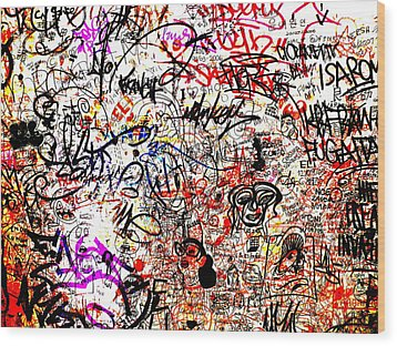 Barcelona Graffiti Heaven Wood Print