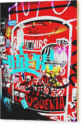 Barcelona Street Graffiti Wood Print by Funkpix Photo Hunter