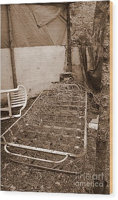 Wood Print featuring the photograph Bare Bones Miners Camp by Marie Neder