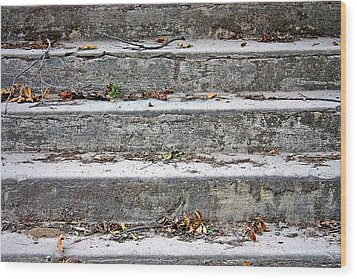 Wood Print featuring the photograph Barge Town Grocery Steps by KayeCee Spain