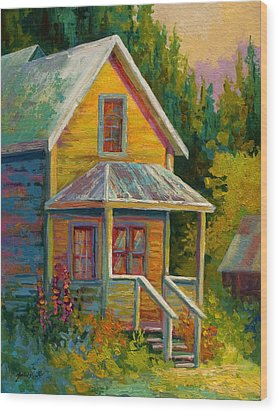 Barkerville Orphan Wood Print by Marion Rose