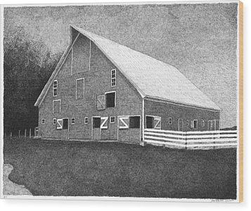Barn 11 Wood Print by Joel Lueck