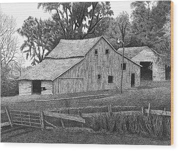 Barn 14 Wood Print by Joel Lueck