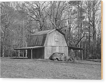 Wood Print featuring the photograph Barn 2 by Mike McGlothlen