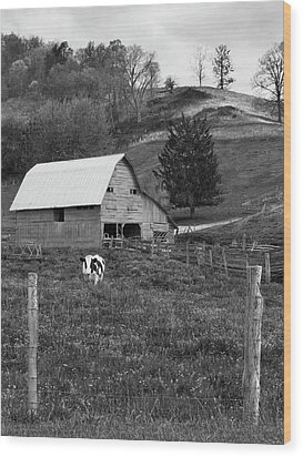 Wood Print featuring the photograph Barn 4 by Mike McGlothlen
