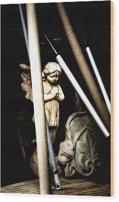 Barn Angel Wood Print by Deb Cohen