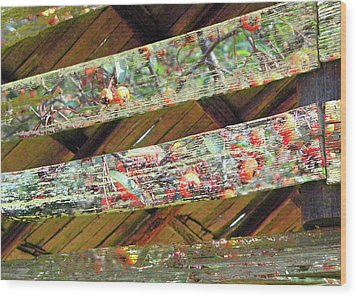 Wood Print featuring the photograph Barn Art by Larry Bishop