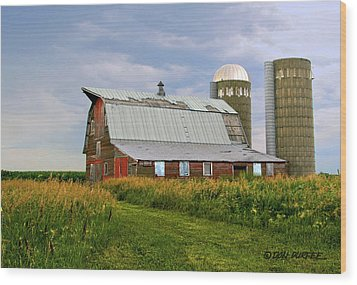 Wood Print featuring the photograph Barn by Don Durfee