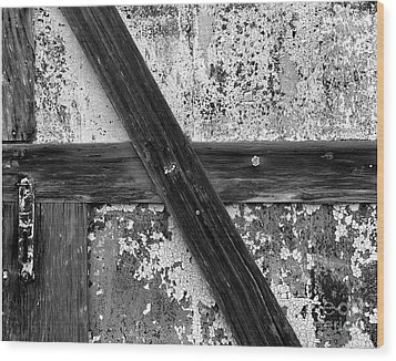Barn Door Wood Print by Christian Slanec