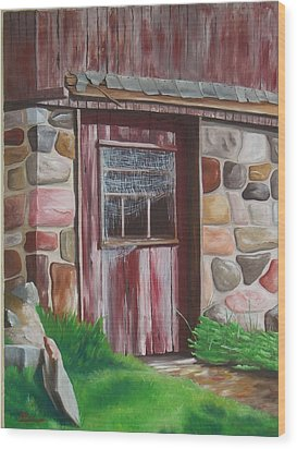Barn Door In Memphis Wood Print by Barbara Auito