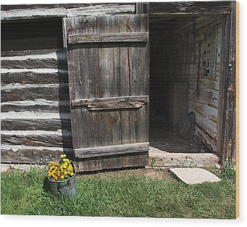 Wood Print featuring the photograph Barn Door by Joanne Coyle