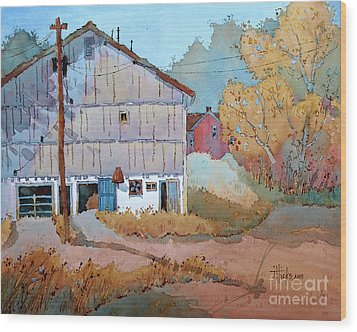 Barn Door Whimsy Wood Print by Joyce Hicks