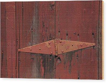 Barn Hinge Wood Print by Garry Gay