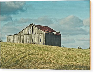 Barn In Ill Repir Wood Print by Douglas Barnett