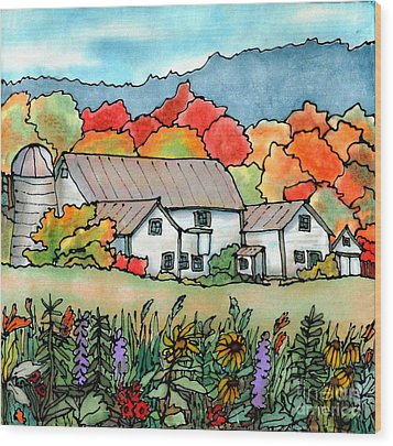 Barn In Pomfret Vermont Wood Print by Linda Marcille