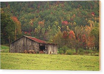 Barn North Carolina 1994 Wood Print by Michelle Wiarda