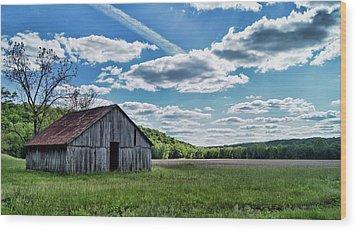 Wood Print featuring the photograph Barn On Cedar Creek Bottoms by Cricket Hackmann