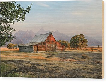 Barn On Morman Row Wood Print by EG Kight