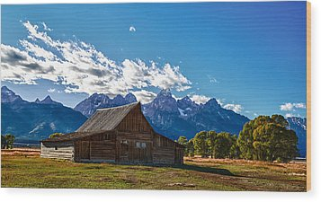 Barn On Mormon Row Wood Print