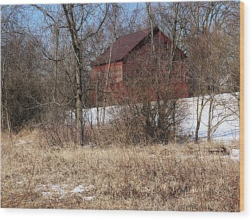 Barn On The Edge Of Town Wood Print by Scott Kingery